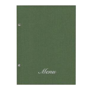 Μενού Εστιατορίου Nomad Πράσινο 24×32εκ Με Βίδες Και 10 Ζελατίνες