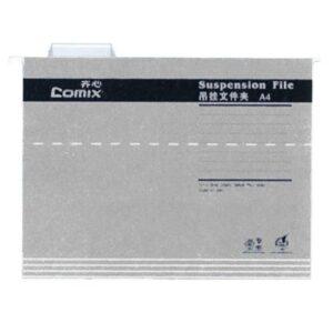 Comix κρεμαστοί φάκελοι γκρι Α4 Υ24,3×31,9εκ.