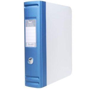 Κουτί αρχειοθέτησης PP μπλε μεταλλικό Α4 με σούστα Υ32x28x7,5εκ.