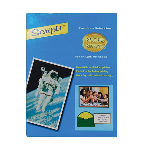 Glossy Χαρτί Φωτογραφιών A4 210γρ. 21×29,7εκ. 10φυλ.