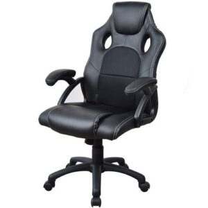 Καρέκλα gaming μαύρη τροχήλατη