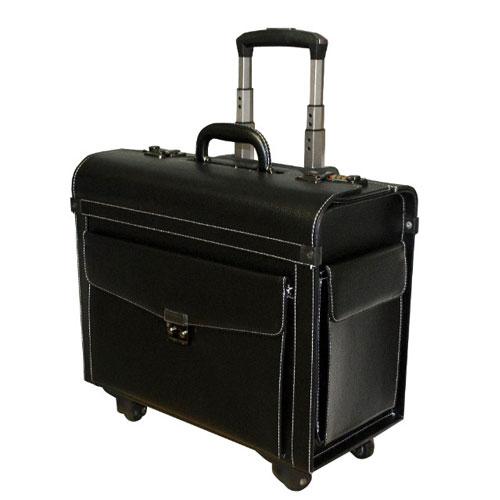 Τσάντα Δερμάτινη  Συρώμενη Ρilot Με Συνδυασμό & Θήκη Laptop