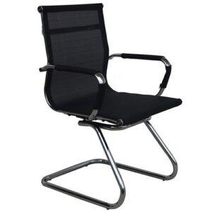 Καρέκλα επισκέπτη μαύρη με δίχτυ στην πλάτη