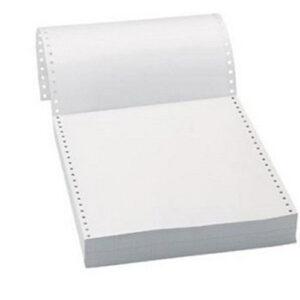 Mηχανογραφικό Χαρτί 11*15 Μονό Λευκό 2000Φ