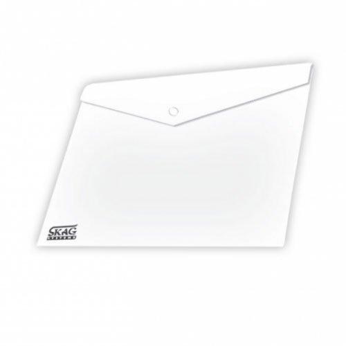 Ντοσιέ Με Κουμπί Πλαστικό Διαφανή Α4 Λευκό