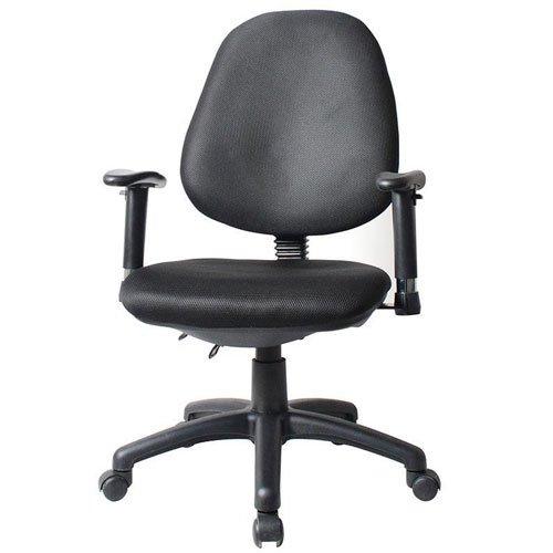 Καρέκλα τροχήλατη μαύρη με υφασμάτινη πλάτη