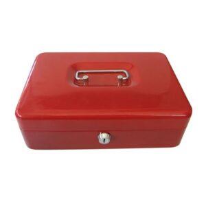 Κουτί Ταμείου Φορητό Μεγάλο (25*18*9) Ανθεκτική Kατασκευή Aπό Aτσάλι