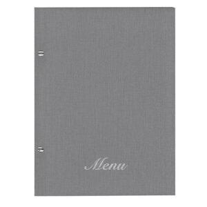 Μενού Εστιατορίου Nomad Γκρί 24×32εκ Με Βίδες Και 10 Ζελατίνες