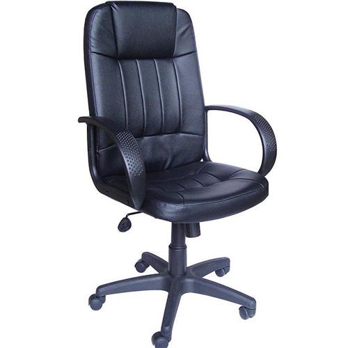 Καρέκλα Διευθυντική Μαύρη Δερματίνη Ψηλή Πλάτη