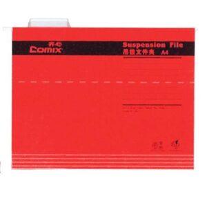Comix κρεμαστοί φάκελοι κόκκινο Α4 Y24,3×31,9εκ.
