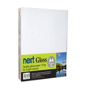Next Gloss A4 170γρ. premium gloss paper 250φ.