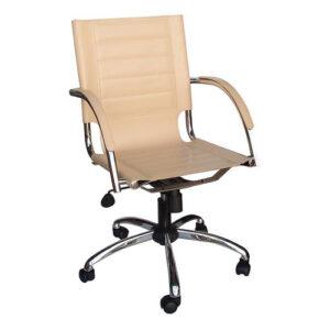 Καρέκλα Διευθυντική Μπεζ Δέρμα