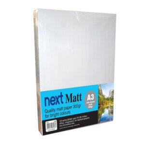 Next Matt A3 300γρ. premium matt paper 100φ.