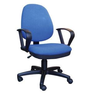 Καρέκλα Τροχήλατη Μπλε Ψηλή Πλάτη