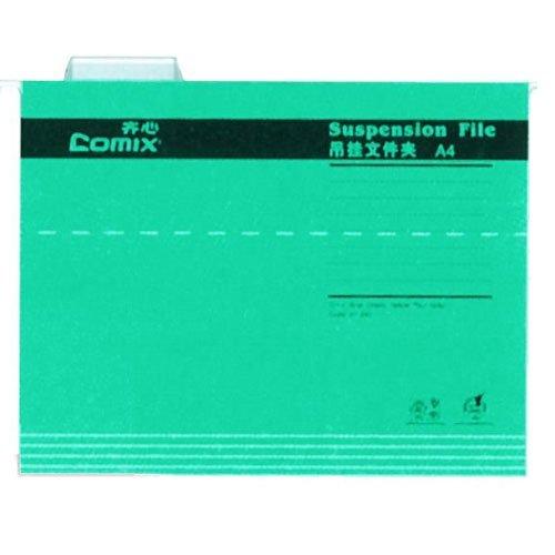 Comix κρεμαστοί φάκελοι πράσινο Α4 Υ24,3×31,9εκ.