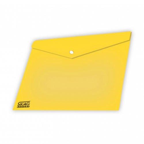 Ντοσιέ Με Κουμπί Πλαστικό Διαφανή Α4 Κίτρινο