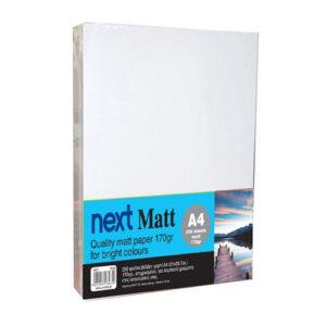Next Matt A4 170γρ. premium matt paper 250φ.