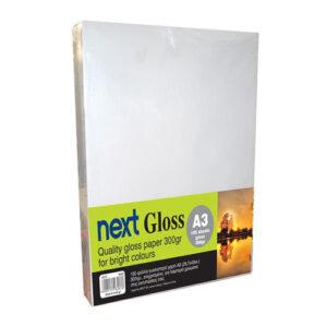 Next Gloss A3 300γρ. premium gloss paper 100φ.