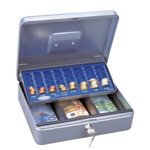 Comsafe Κουτί Φύλαξης-Μεταφοράς Χρημάτων Ασημί Υ10x30x21.5εκ.