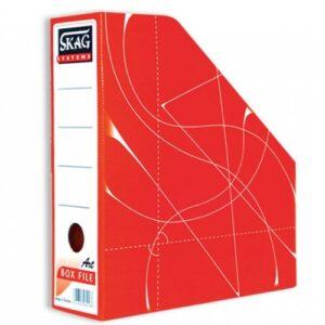 Θήκη Περιοδικών χάρτινη Skag Box File Κόκκινο