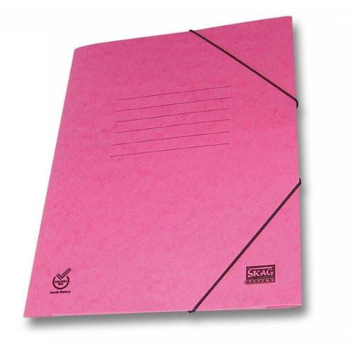 Ντοσιέ Skag Πρέσπαν Χάρτινο Με Λάστιχο Ροζ