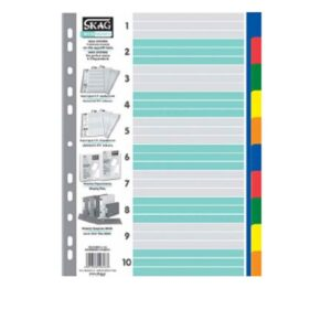 Διαχωριστικά πλαστικά χρωματιστά 1-10