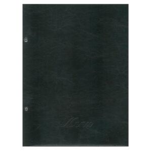 Μενού Εστιατορίου Μαύρο 24×32εκ. Πυρογραφικό
