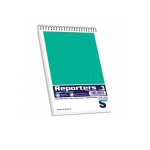 Μπλοκ Reporters σπιραλ λευκό 115*190cm 50φ