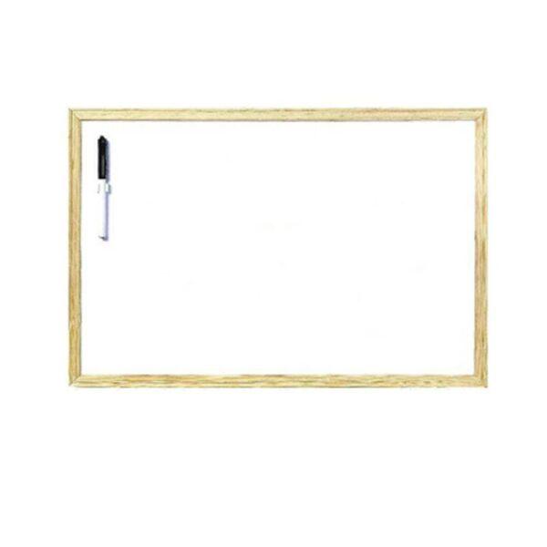 Πίνακας Λευκός 40*60cm Με Ξύλινο Πλαίσιο