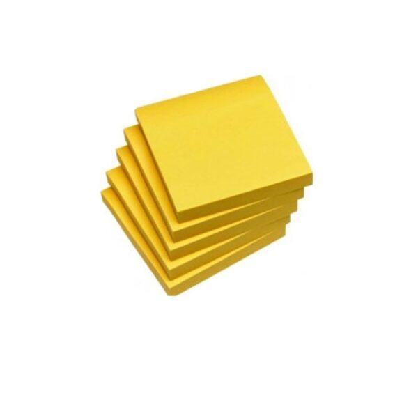 Σημειώσεων Χαρτάκια Αυτοκόλλητα Κίτρινα 100Φ 75*100