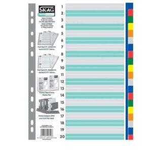 Διαχωριστικά πλαστικά χρωματιστά 1-20