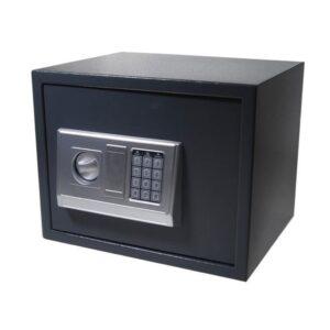 Χρηματοκιβώτιο με συνδυασμό και κλειδί γκρι